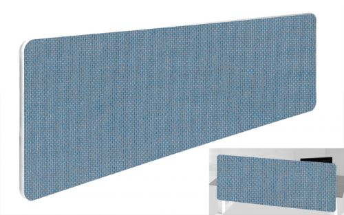 Impulse Plus Oblong 300/1500 Backdrop Screen Rounded Corners Sky Blue Fabric Light Grey Edges