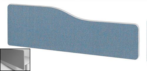 Impulse Plus Wave 300/1500 Backdrop Screen Rounded Corners Sky Blue Fabric Light Grey Edges