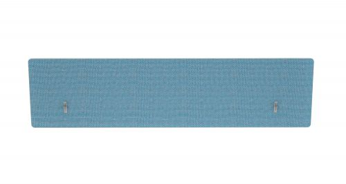 Impulse Plus Oblong 300/1600 Backdrop Screen Rounded Corners Sky Blue Fabric Light Grey Edges