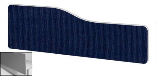 Impulse Plus Wave 300/1600 Backdrop Screen Rounded Corners Royal Blue Fabric Light Grey Edges