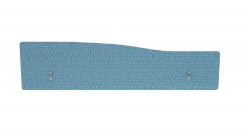 Impulse Plus Wave 300/1600 Backdrop Screen Rounded Corners Sky Blue Fabric Light Grey Edges