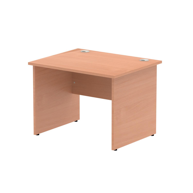Rectangular Desks Impulse 1000 x 800mm Straight Desk Beech Top Panel End Leg MI000370