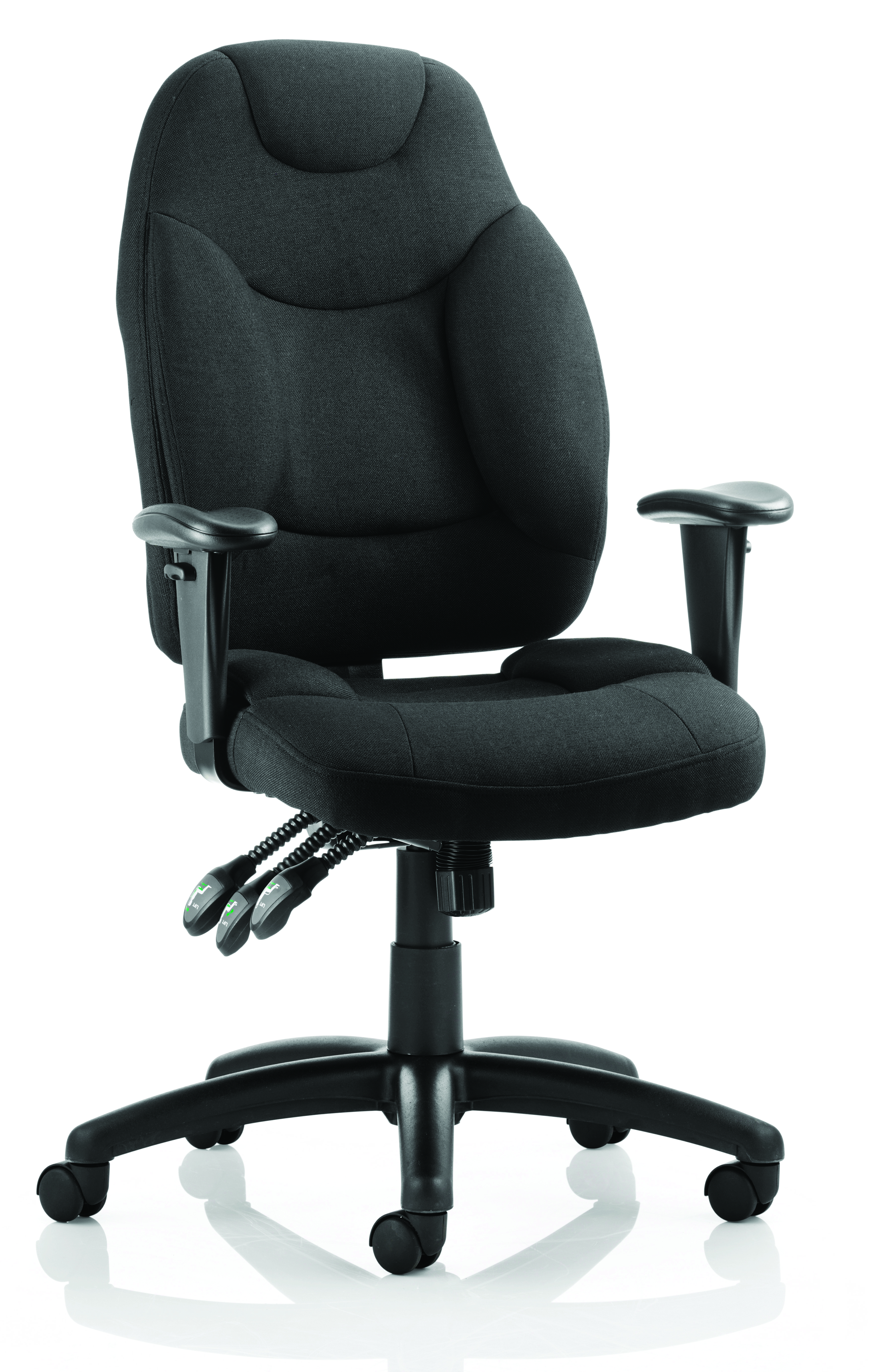 Galaxy Task Operator Chair Black Fabric With Arms