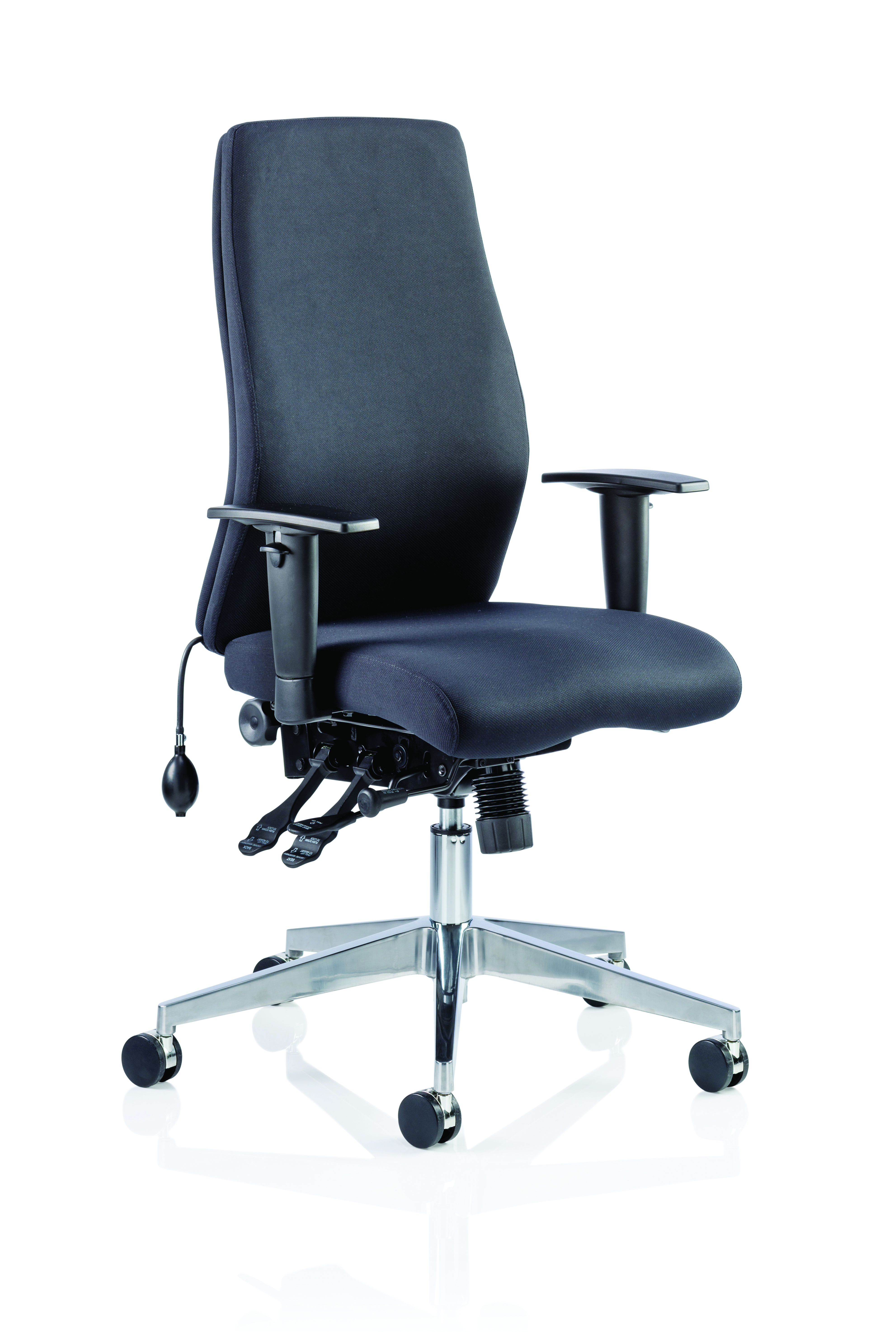 Desk Chairs Onyx Black Fabric Without Headrest With Arms OP000095