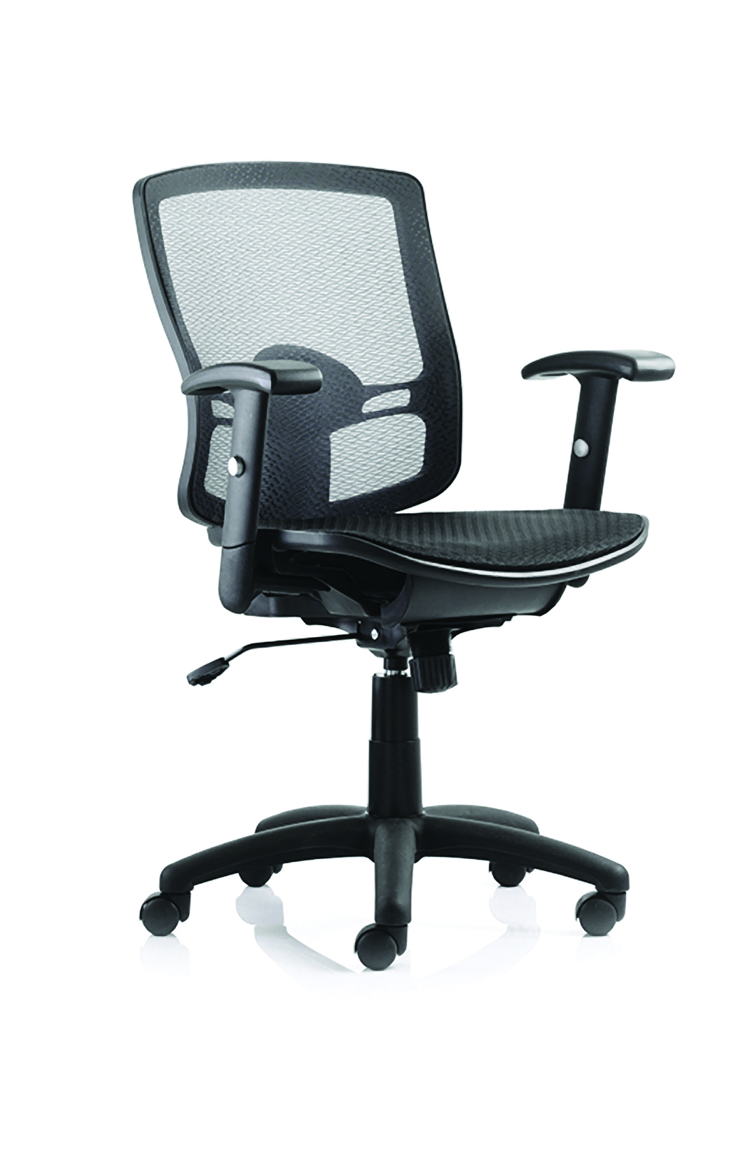 Desk Chairs Palma Chair Black Mesh Back Black With Arms OP000104