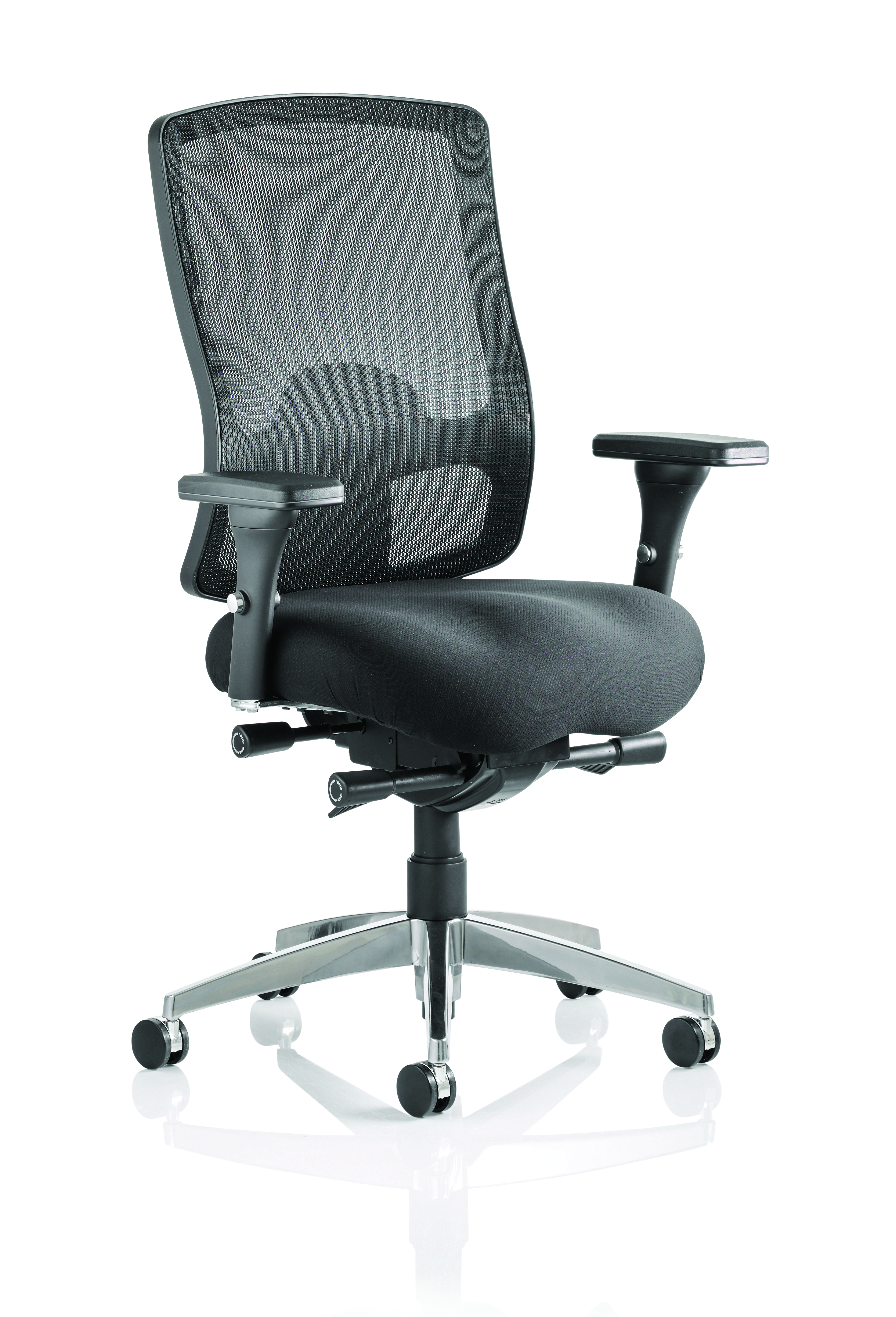 Desk Chairs Regent Chair Black Fabric Black Mesh Back With Arms OP000113