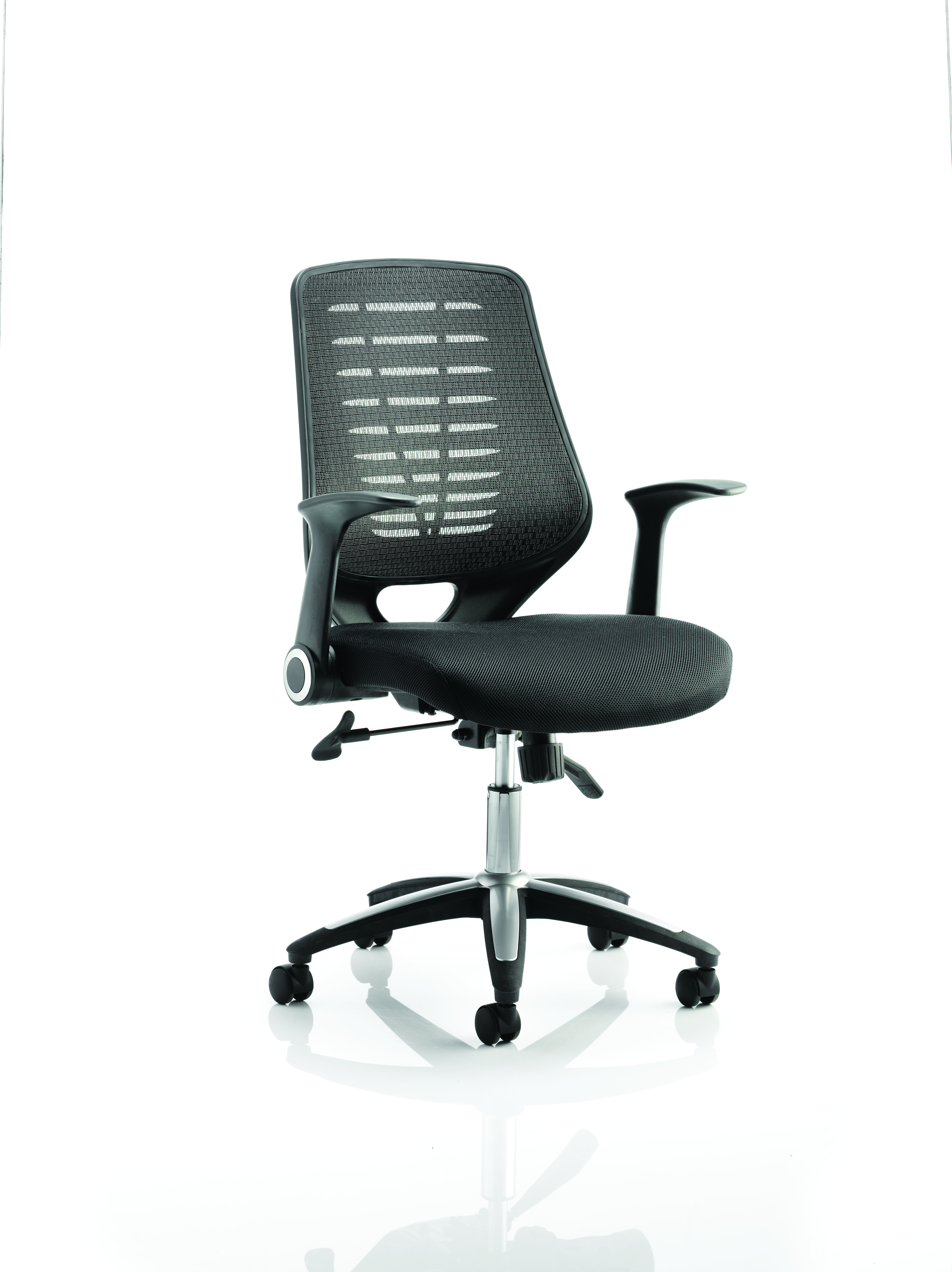 Desk Chairs Relay Chair Airmesh Seat Black Back With Arms OP000115