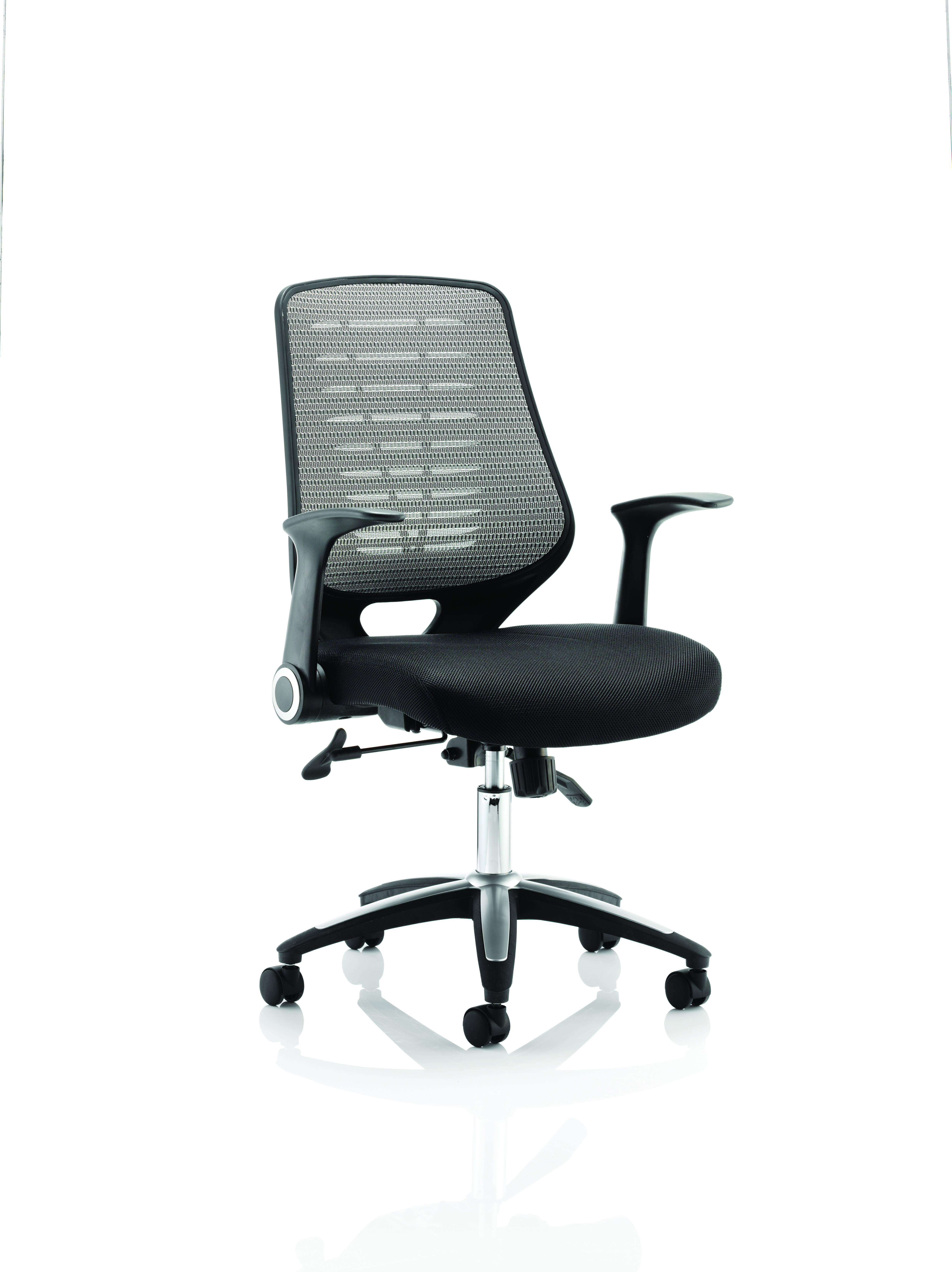 Desk Chairs Relay Chair Airmesh Seat Silver Back With Arms OP000116
