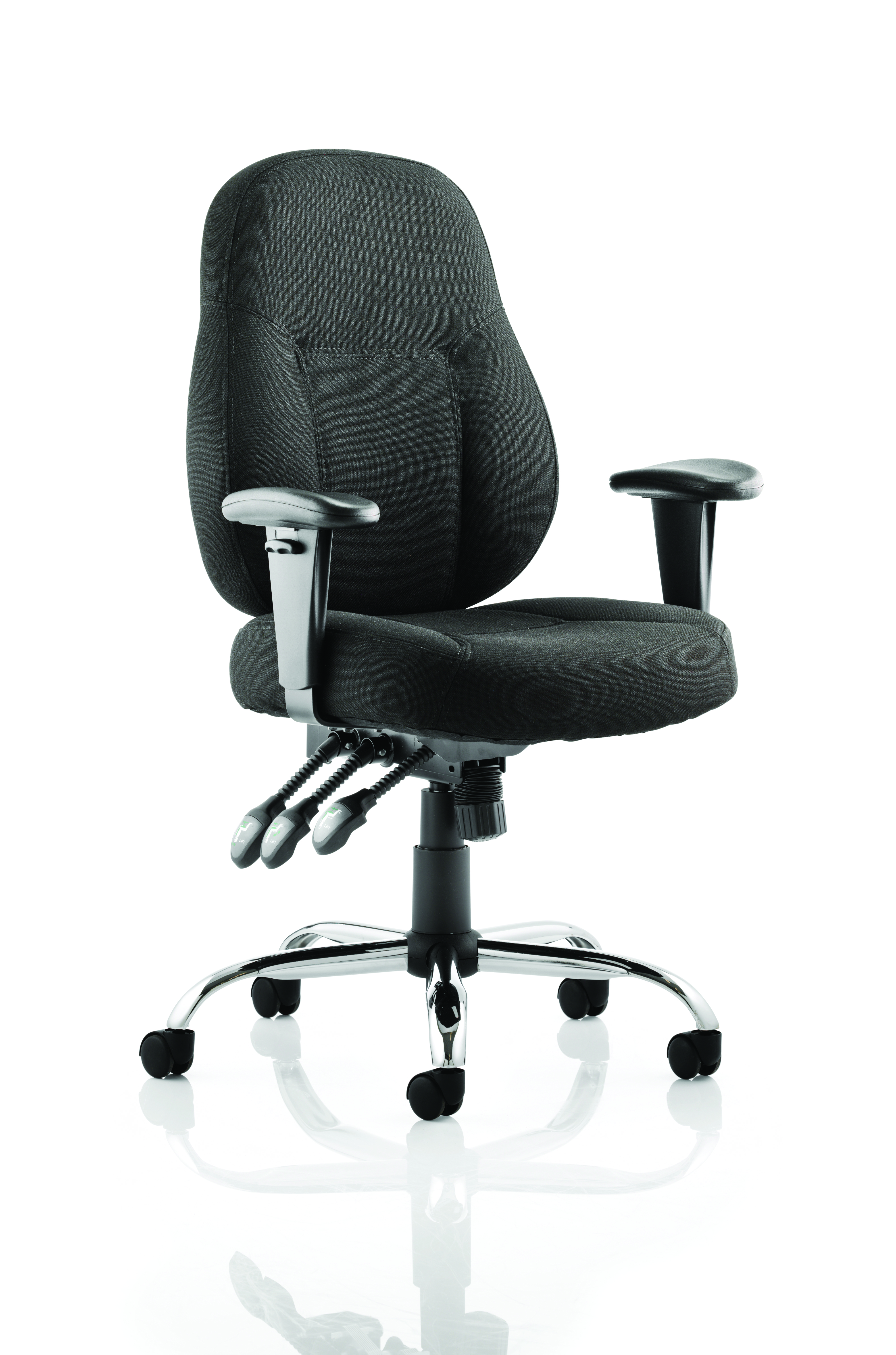 Desk Chairs Storm Chair Black Fabric With Arms OP000127