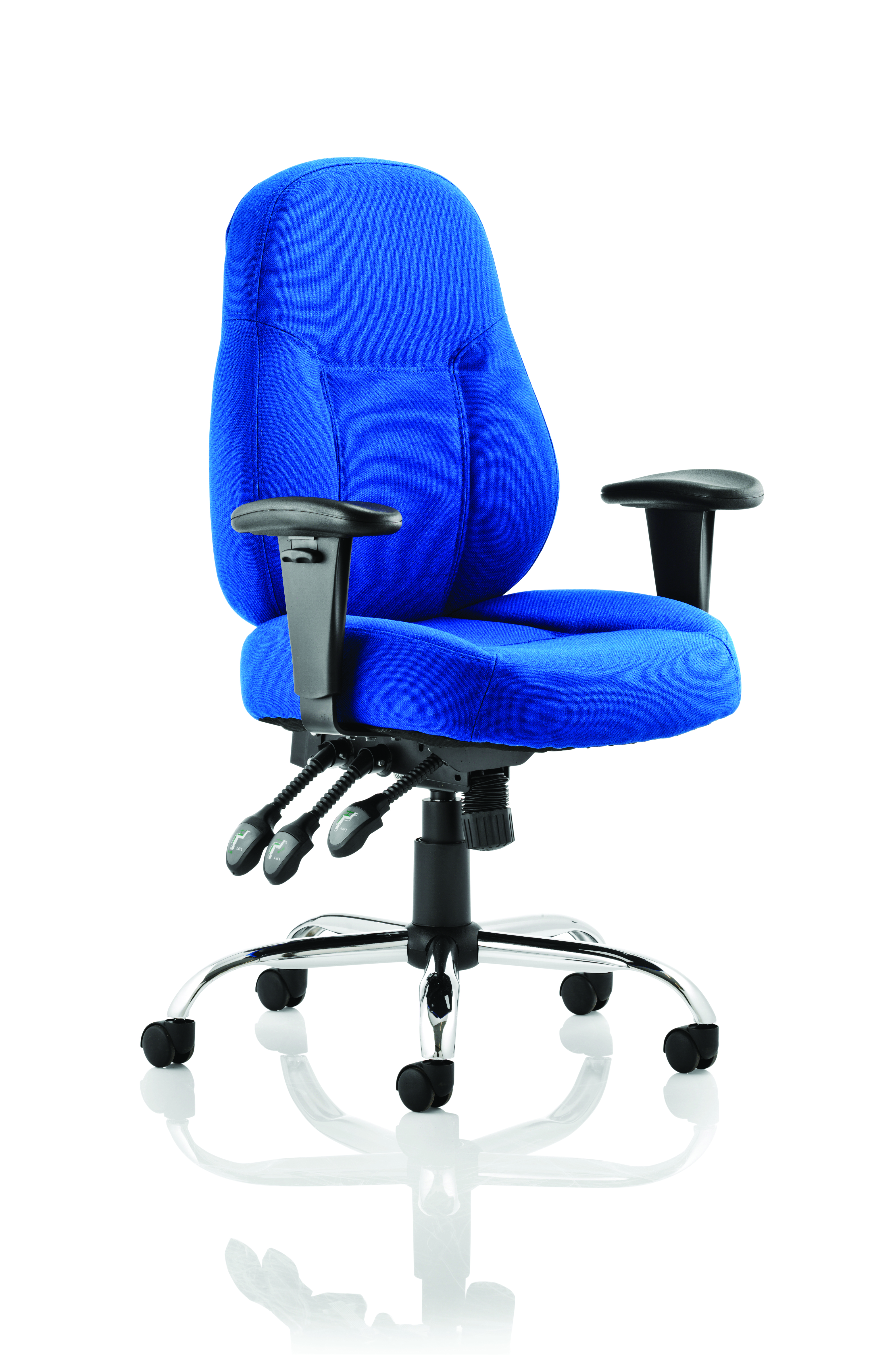 Desk Chairs Storm Chair Blue Fabric With Arms OP000128