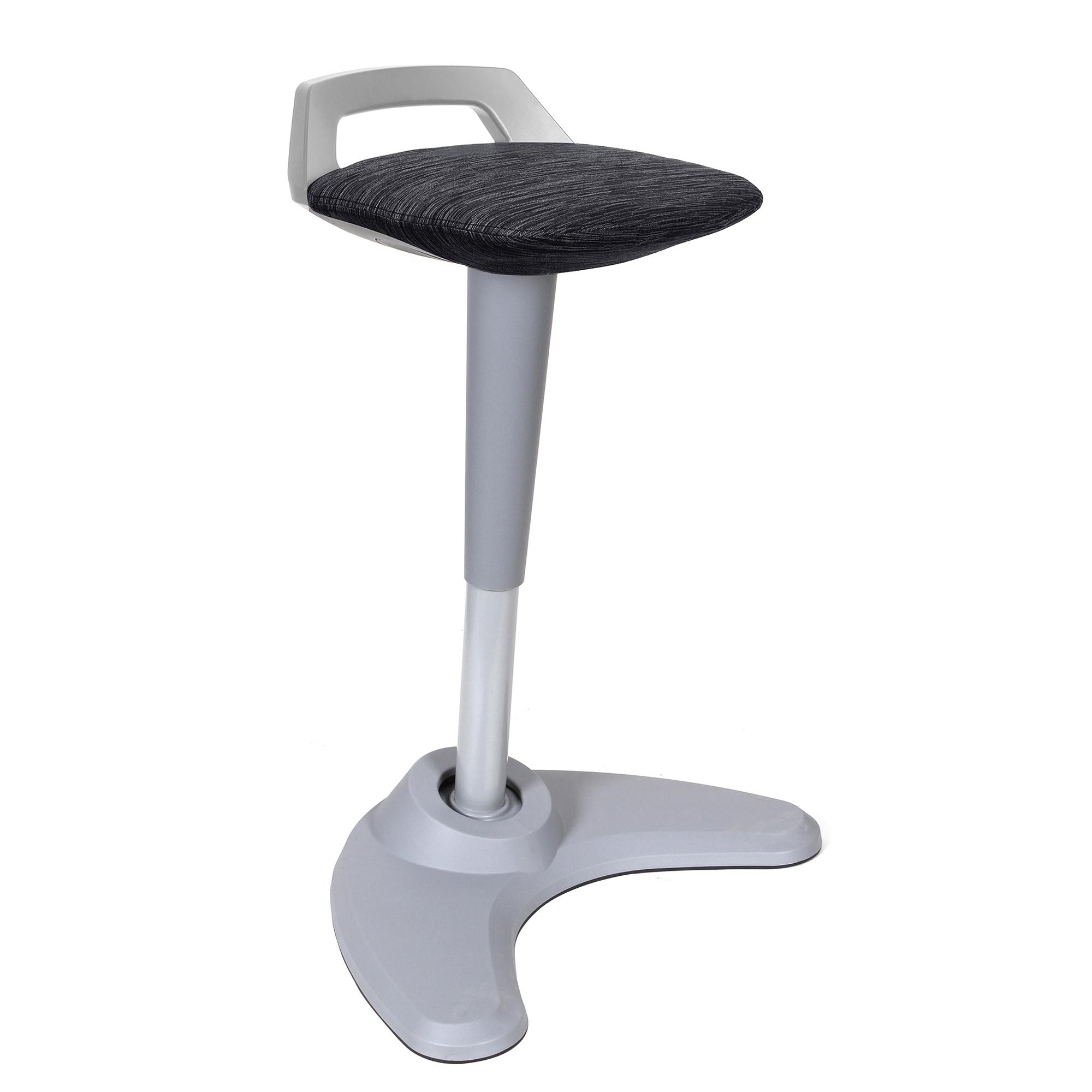 Spry Stool Grey Frame Bespoke Seat Black OP000221