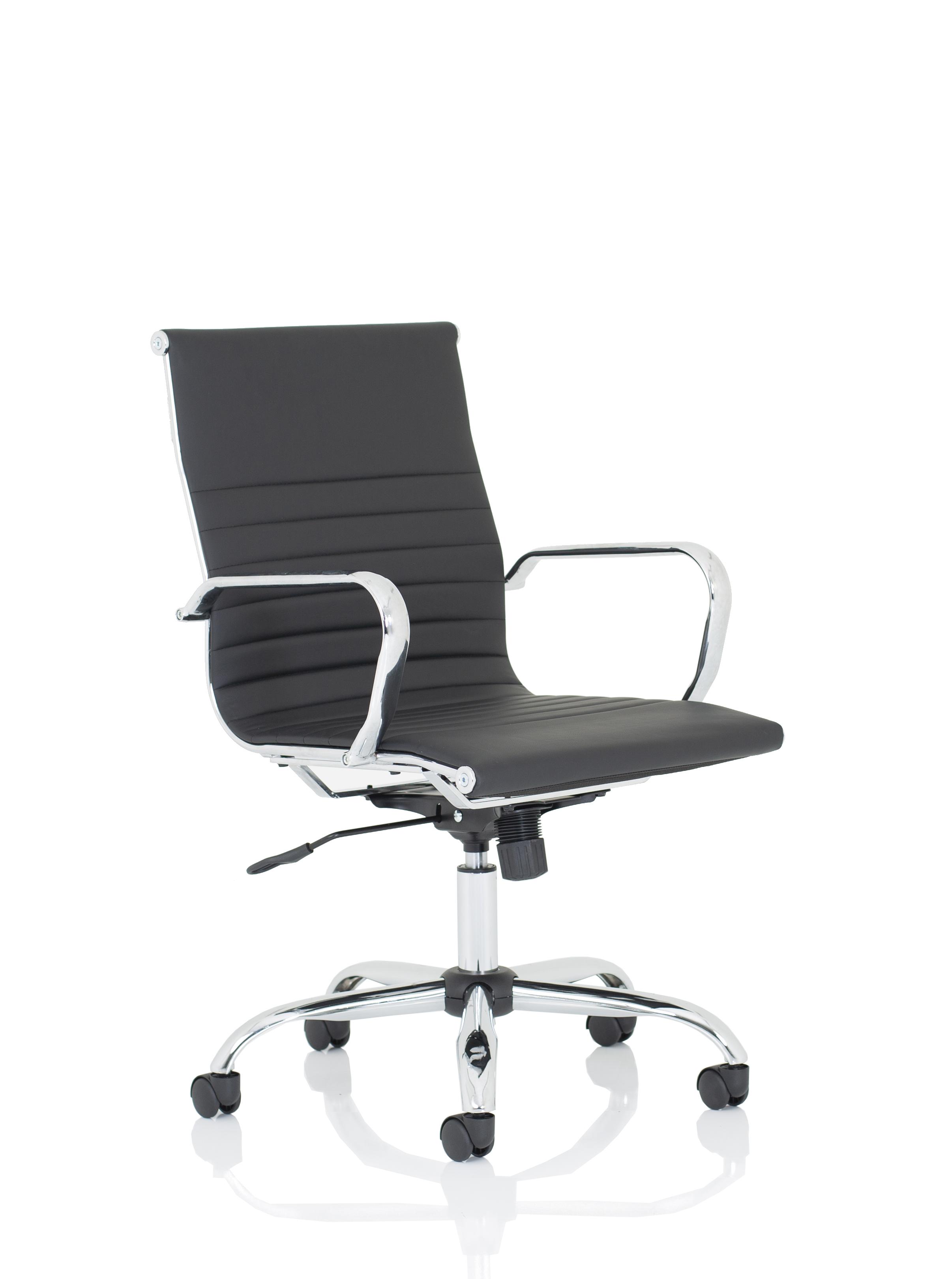 Executive Chairs Nola Medium Black Soft Bonded Leather Executive Chair OP000225