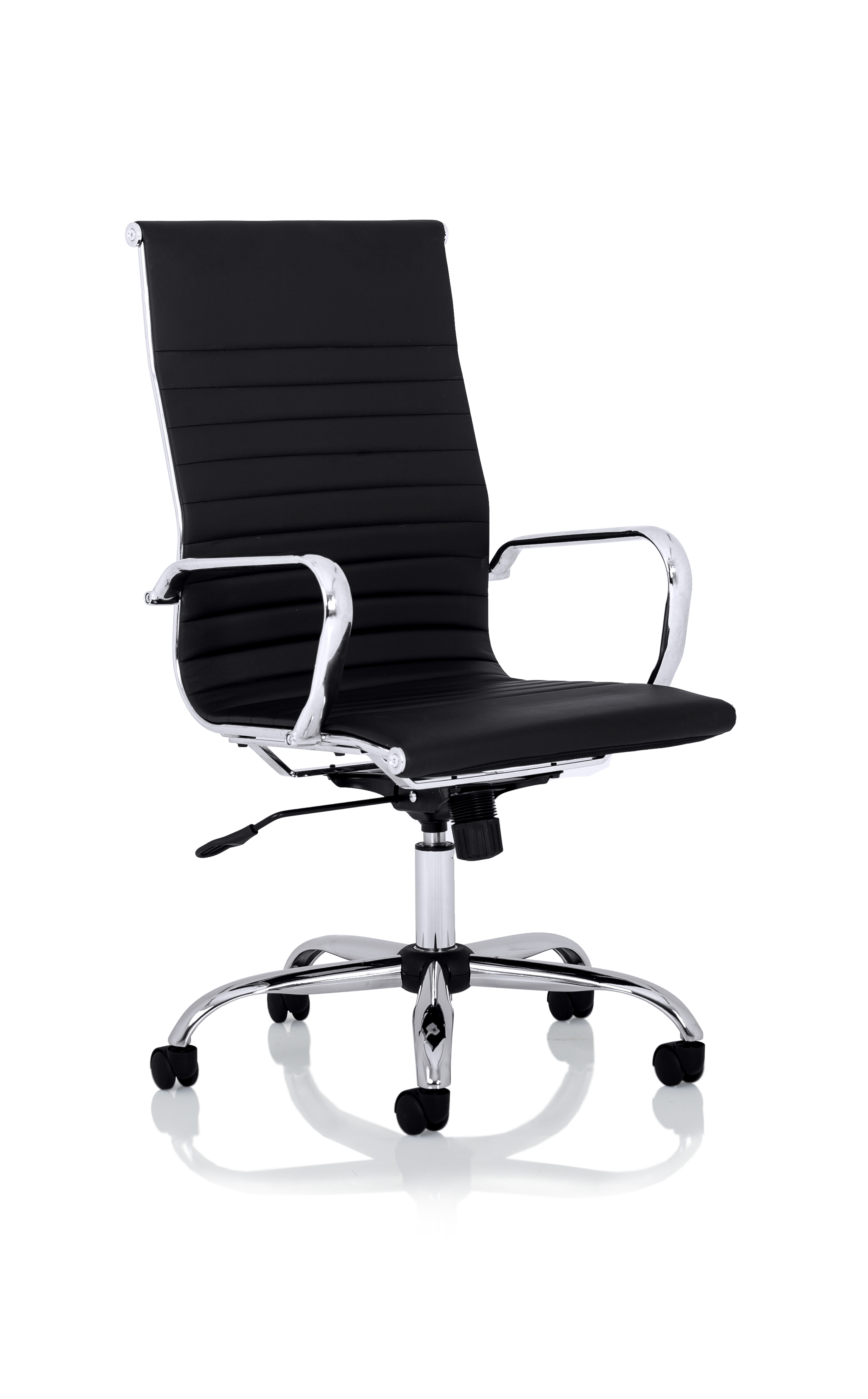 Executive Chairs Nola High Back Black Soft Bonded Leather Executive Chair OP000226