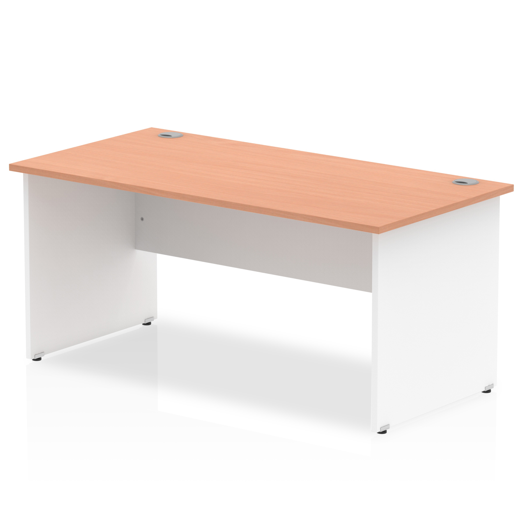 Impulse Cantilever 1800mm Rectangle Desk Beech