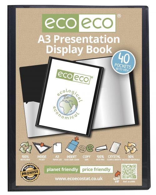 Eco A3 50% Recycled 40 Pocket Presentation Display Book