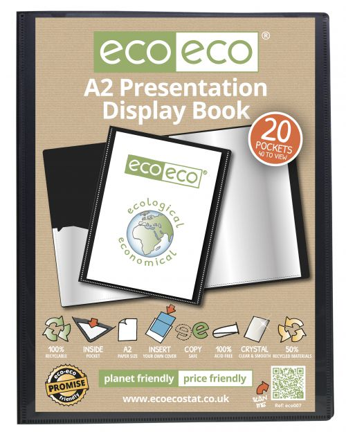 Eco A2 50% Recycled 20 Pocket Presentation Display Book
