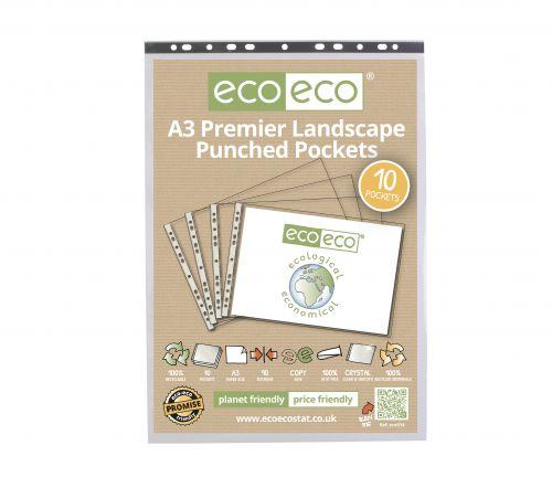 Eco A3 100% Recycled Bag 10 Premier Landscape Punched Pocket