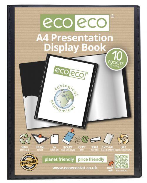 Eco A4 50% Recycled 10 Pocket Presentation Display Book