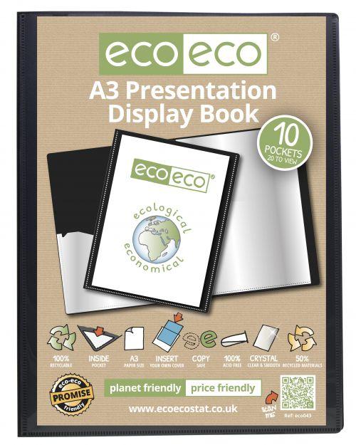 Eco A3 50% Recycled 10 Pocket Presentation Display Book