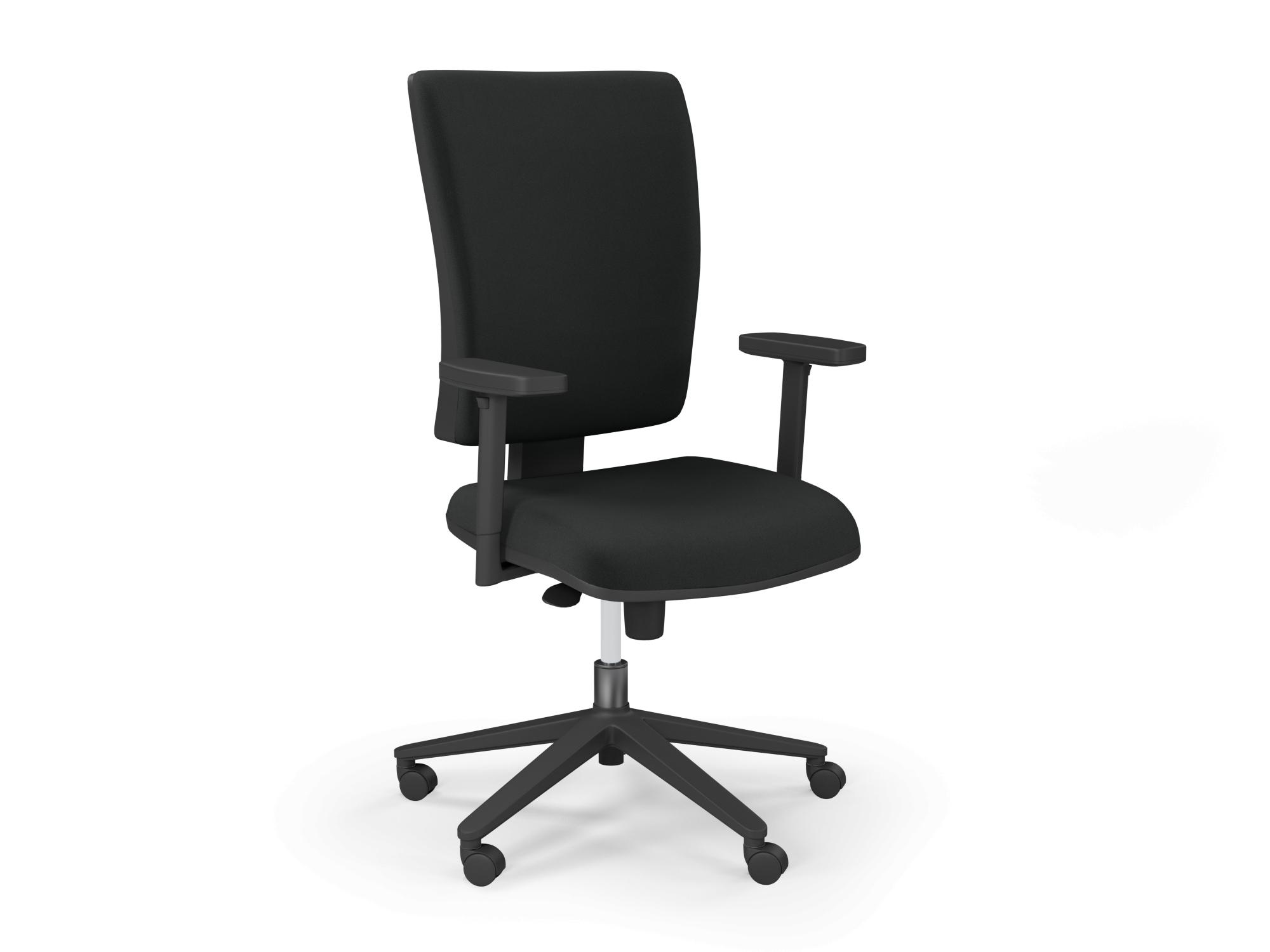 O. Flash High Fabric Back Blk Base Seat Slide Step PP - Evert Black E001