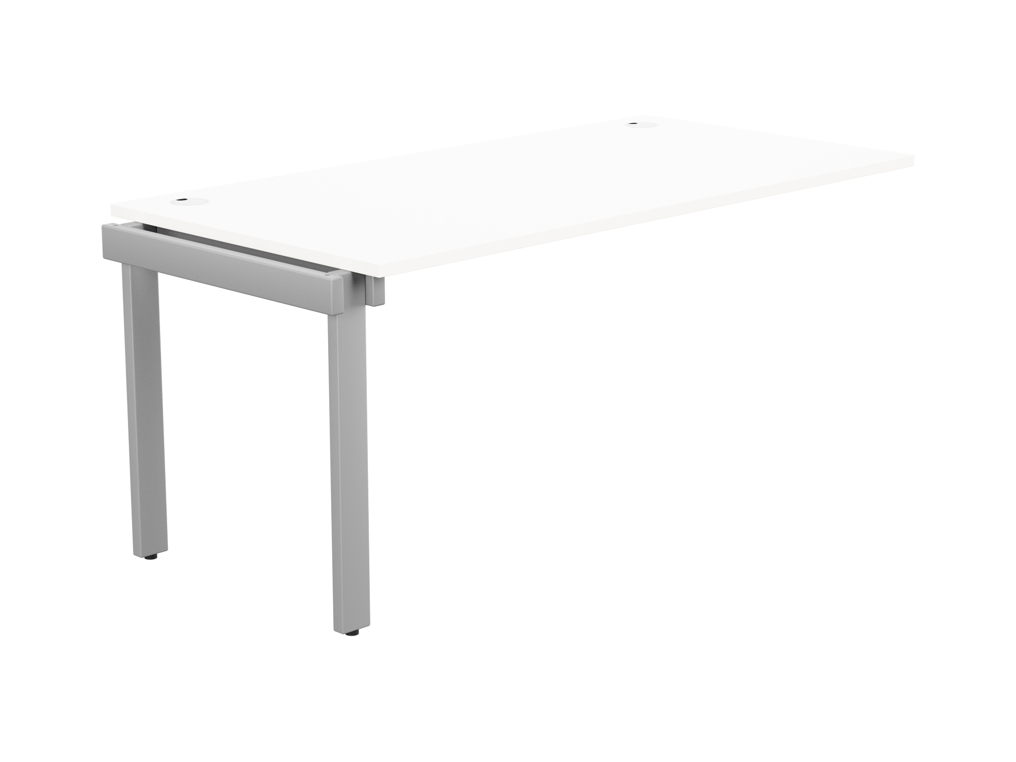 Switch 1 Person Bench Add-On Portal Top 1600 x 800 - Silver Frame / White Top