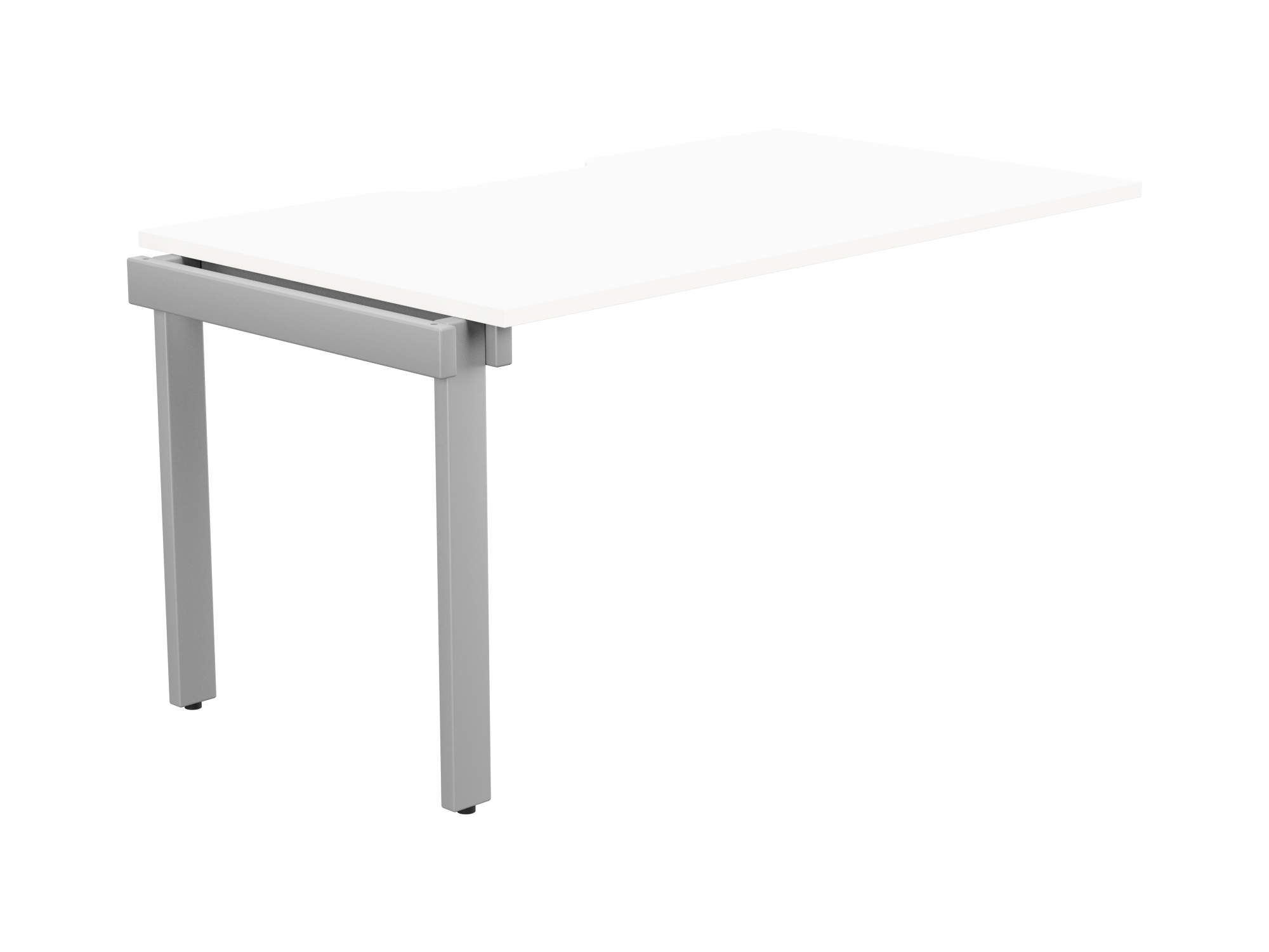 Switch 1 Person Bench Add-On Scallop Top 1400 x 800 - Silver Frame / White Top