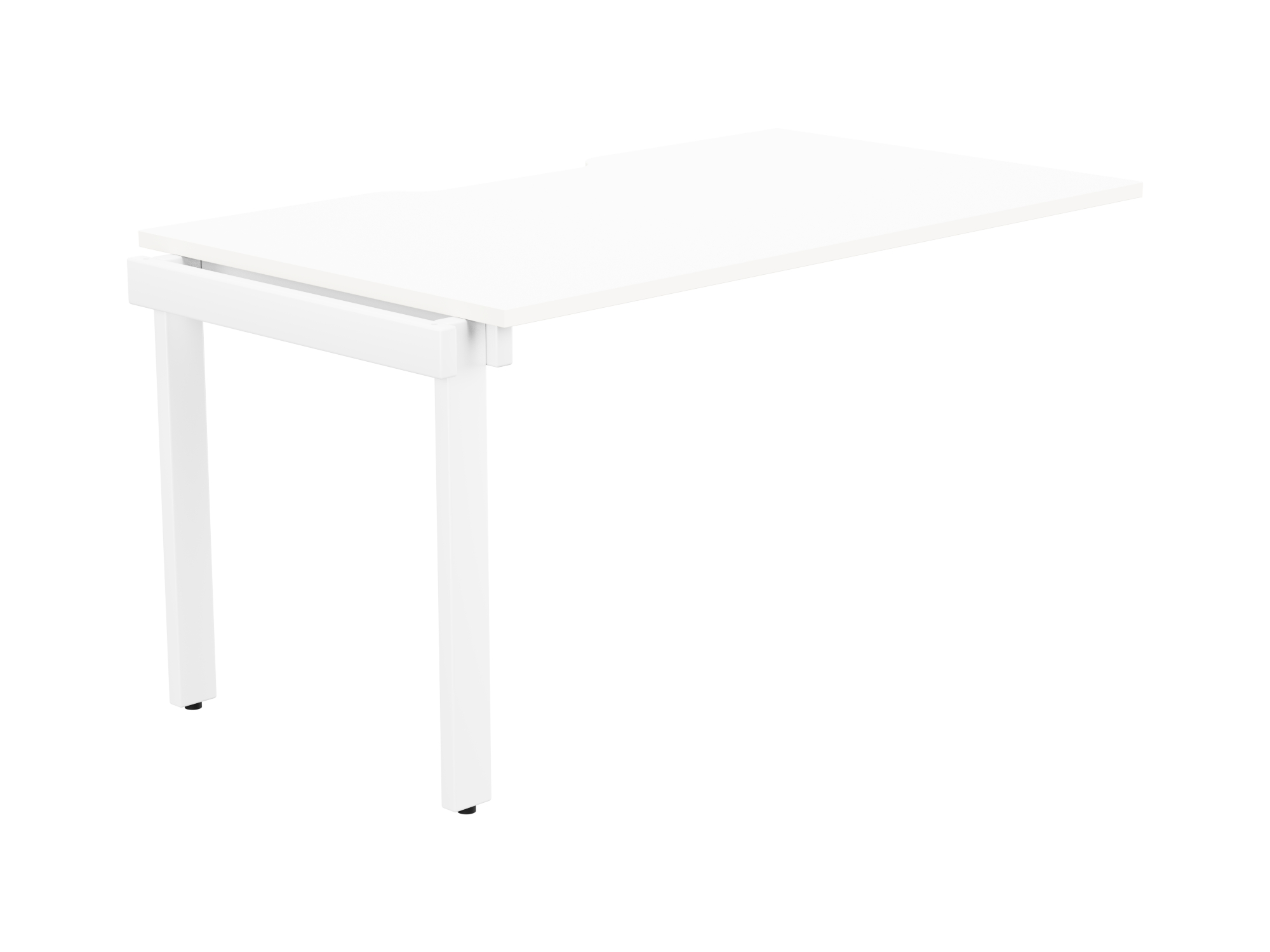 Switch 1 Person Bench Add-On Scallop Top 1400 x 800 - White Frame / White Top