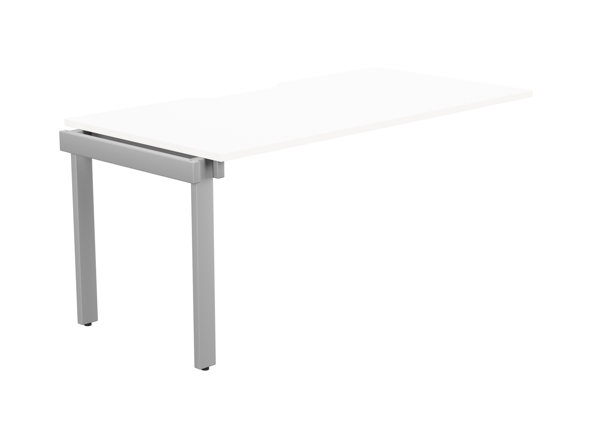 Switch 1 Person Bench Add-On Scallop Top 1600 x 800 - Silver Frame / White Top