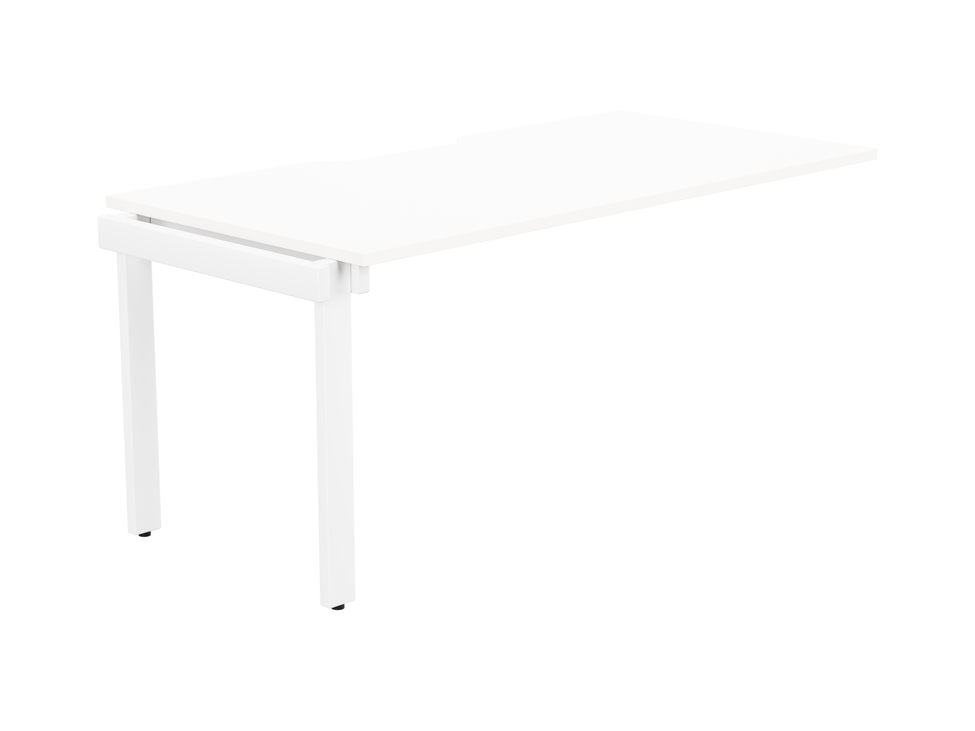 Switch 1 Person Bench Add-On Scallop Top 1600 x 800 - White Frame / White Top