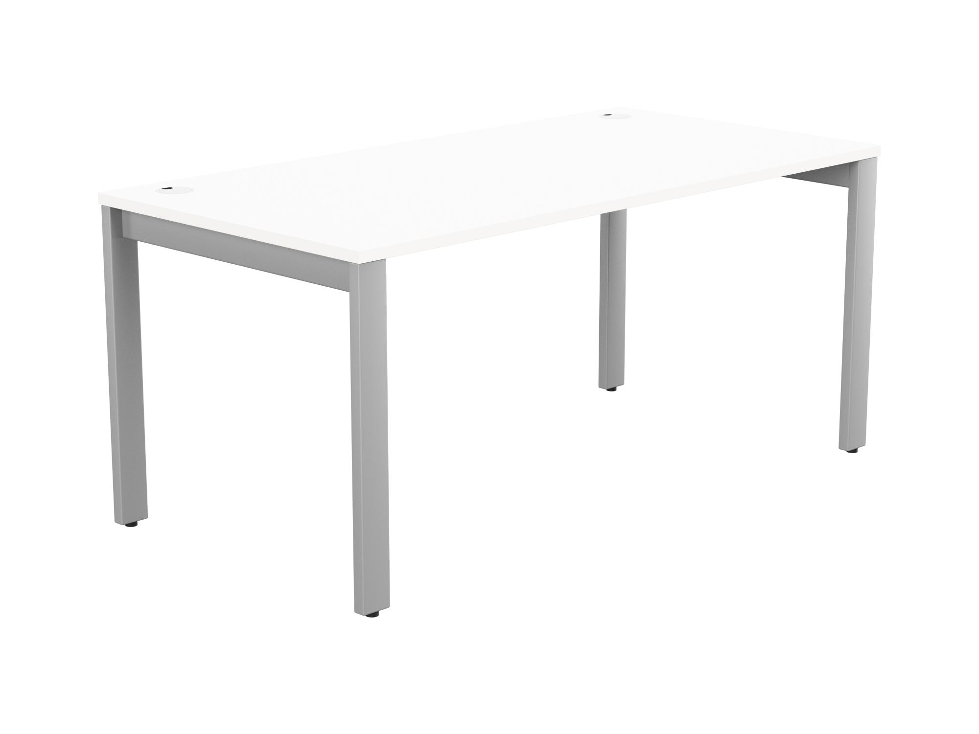 Switch 1 Person Bench Open Leg Portal Top 1600 x 800 - Silver Frame / White Top