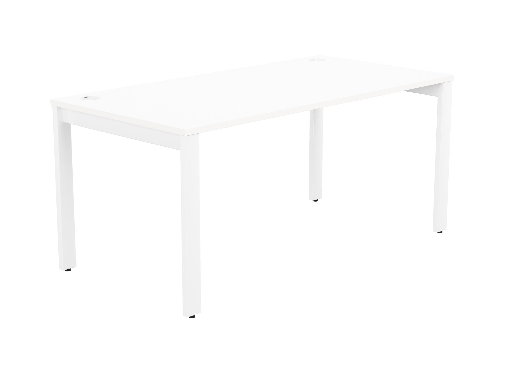 Switch 1 Person Bench Open Leg Portal Top 1600 x 800 - White Frame / White Top