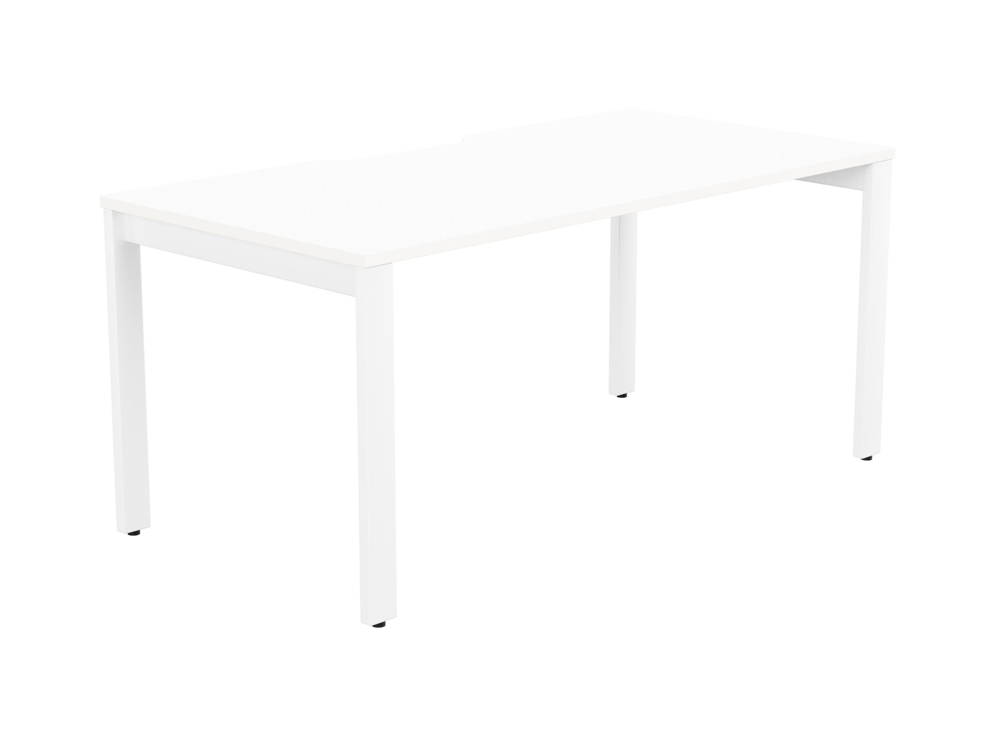 Switch 1 Person Bench Open Leg Scallop Top 1400 x 800 - White Frame / White Top