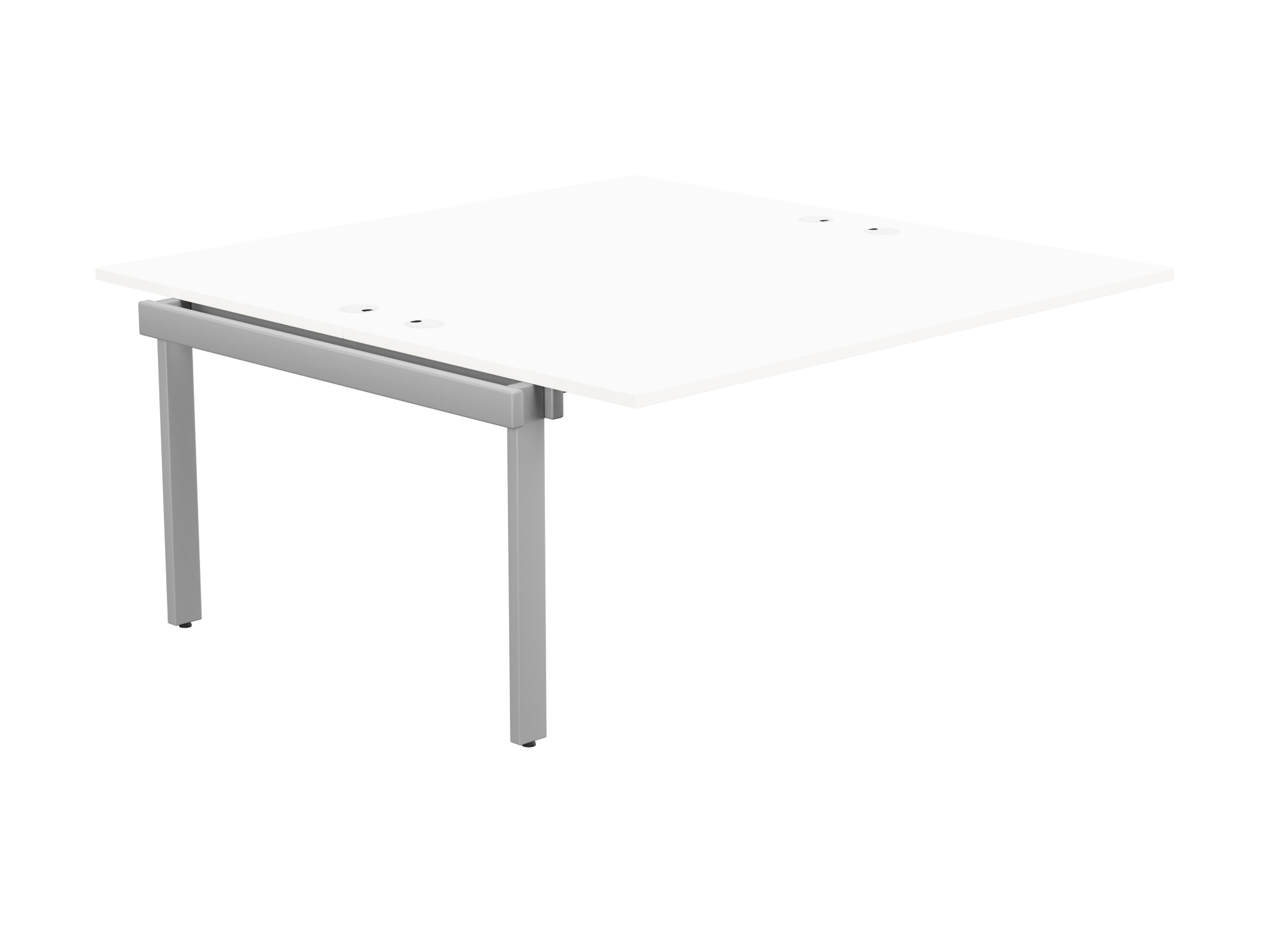 Switch 2 Person Bench Add-On Portal Top 1600 x 800 - Silver Frame / White Top