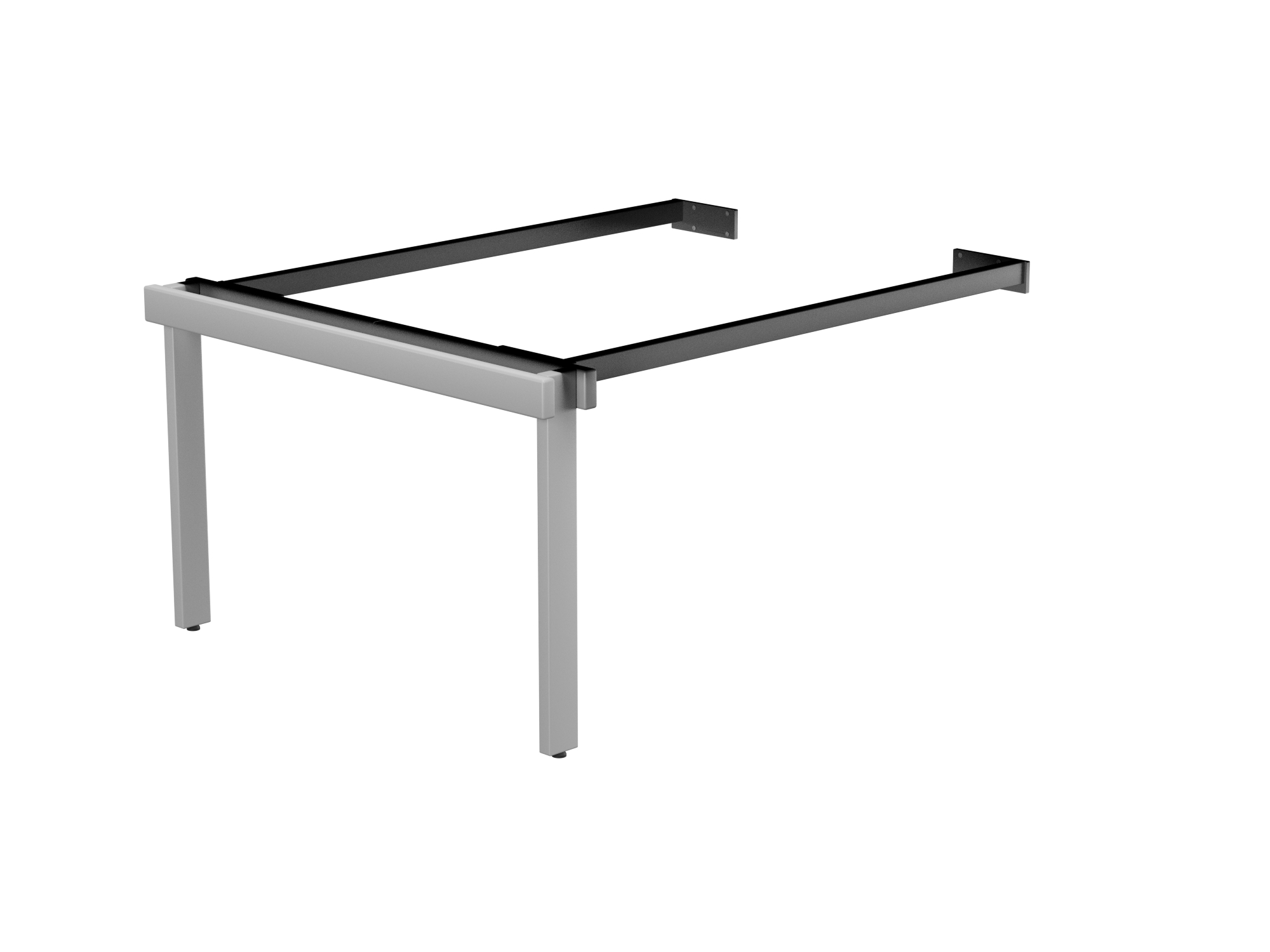 Switch 2 Person Bench Add-On Scallop Top 1400 x 800 - Silver Frame / White Top