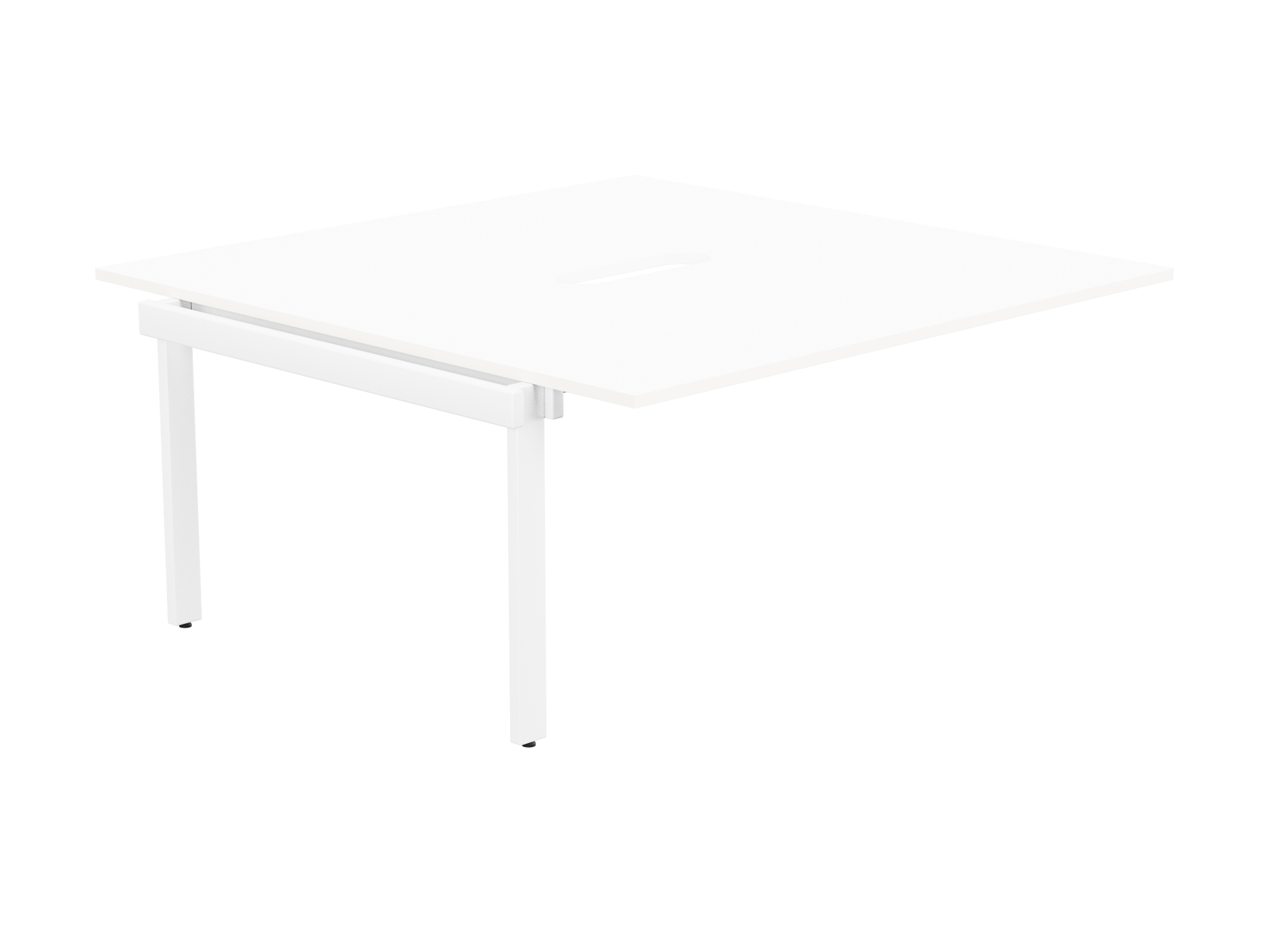 Switch 2 Person Bench Add-On Scallop Top 1600 x 800 - White Frame / White Top