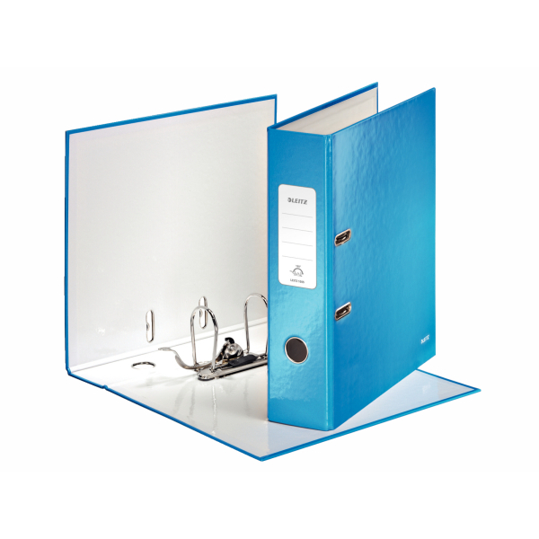 Leitz WOW Lever Arch File 80mm Spine for 600 Sheets A4 Blue Ref 10050036 [Pack 10] [Promo]