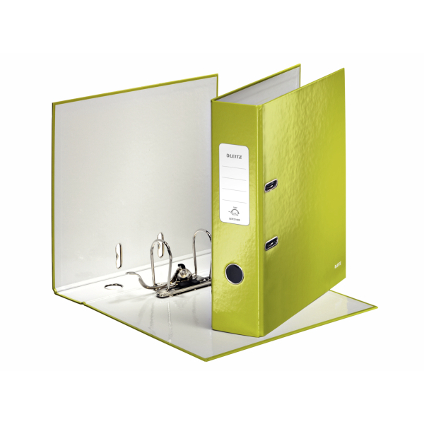 Leitz WOW Lever Arch File 80mm Spine for 600 Sheets A4 Green Ref 10050064 [Pack 10] [Promo]