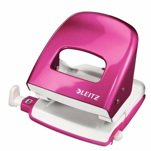 Leitz Hole Punch NeXXt WOW 30 Sheet Pink