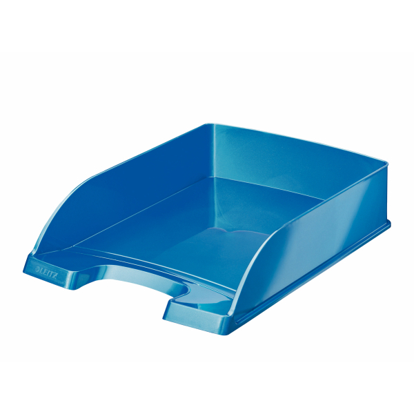 WOW Letter Tray Blue Metallic A4