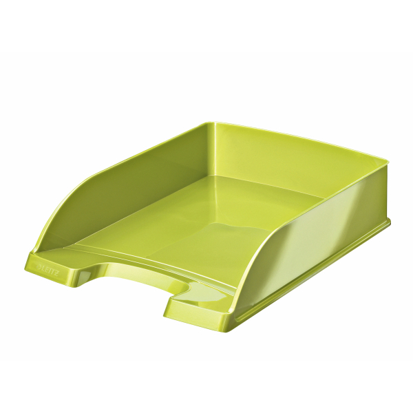 Leitz Bright Letter Tray Stackable Glossy Metallic Green Ref 52263064