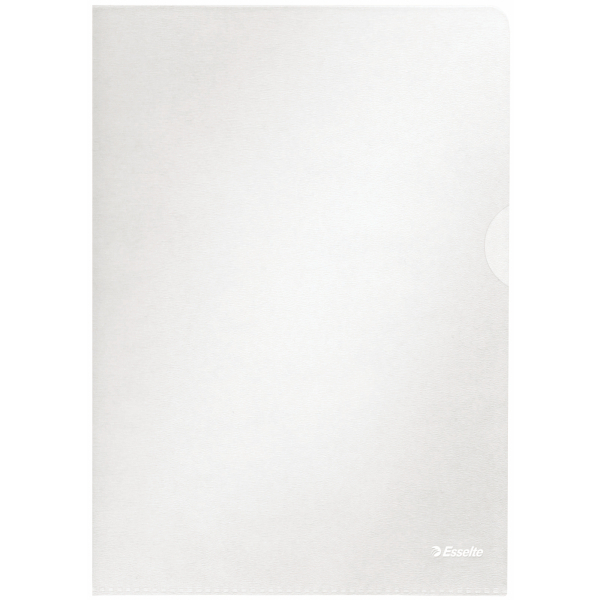 Esselte Copy-safe Folder Plastic Cut Flush A4 Clear Ref 54830/54832 [Pack 100]
