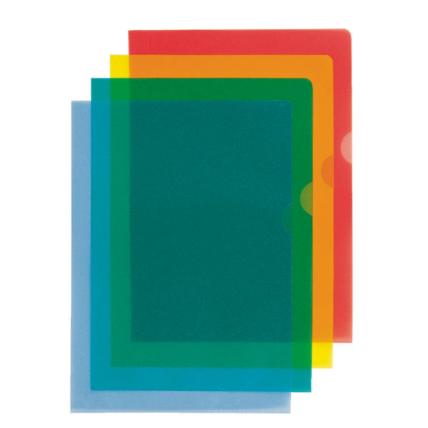 Esselte Copy-safe Folder Plastic Cut Flush A4 Blue Ref 54835/54837 [Pack 100]