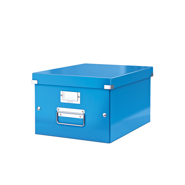 Leitz WOW Click and Store Medium Storage Box For A4 Blue Ref 60440036