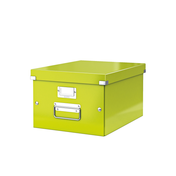 Leitz WOW Click and Store Medium Storage Box For A4 Green Ref 60440064