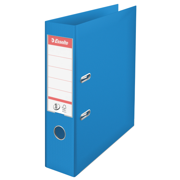 Esselte No. 1 Lever Arch File PP Slotted 75mm Spine A4 Blue Ref 879991