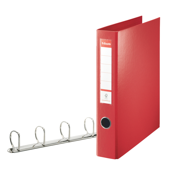 Image for Esselte Red 4D-Ring Maxi A4 Binder