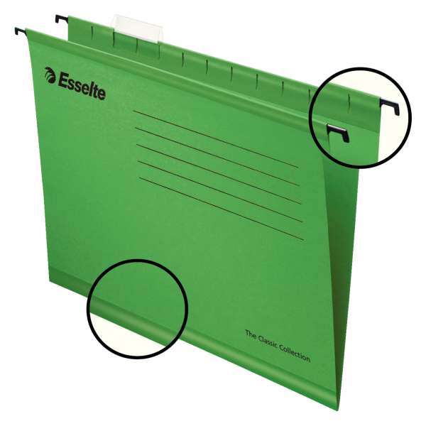Suspension File Esselte Classic Suspension File A4 Green (PK25)