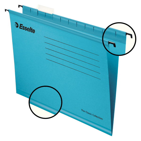 Suspension File Esselte Classic Suspension File Foolscap Blue (PK25)