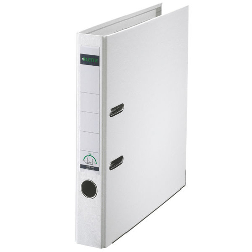 Lever Arch Files Leitz 180 Lever Arch File Polypropylene A4 52mm Spine Width White (Pack 10)