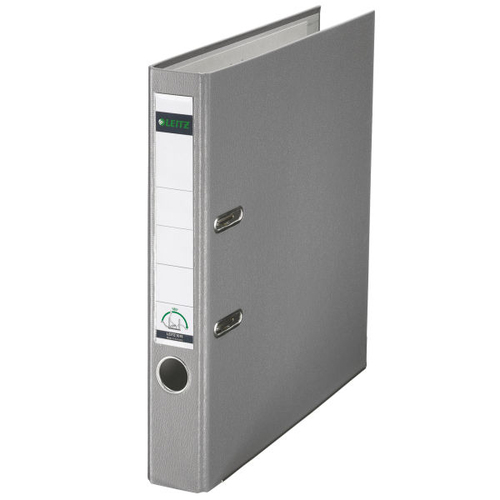 Leitz Polypropylene Lever Arch File A4 52mm Grey (PK10)